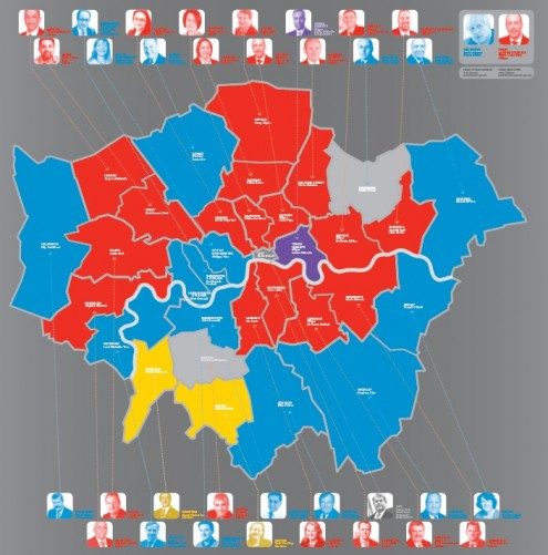 Map Of Uk Parliamentary Constituencies.Updated 2012 Political Map Of London